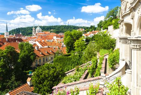 Ledeburska Garden And Saint Nicholas Church, Prague, Czech Republic ...