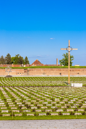 penitentiary: Small Fortress Theresienstadt with cemetery, Terezin, Czech Republic