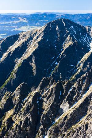tatry: view from Lomnicky Peak, Vysoke Tatry (High Tatras), Slovakia Stock Photo