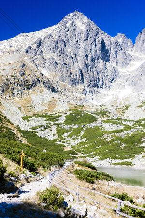 tatras tatry: Lomnicky Peak and Skalnate Tarn, Vysoke Tatry (High Tatras), Slovakia