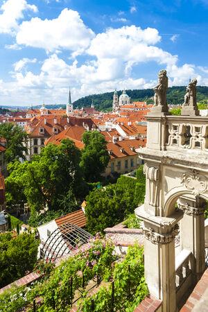 nicholas: Ledeburska Garden and Saint Nicholas Church, Prague, Czech Republic Stock Photo