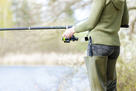 fisherwoman: detail of fishing woman