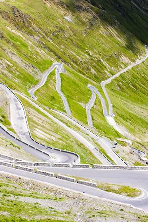 the silence of the world: road at Passo dello Stelvio, Alto Adige, Italy