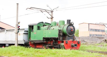 yugoslavia federal republic: steam freight train, Kolubara, Serbia Stock Photo