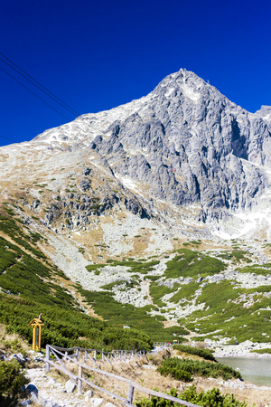 tatry: Lomnicky Peak and Skalnate Tarn, Vysoke Tatry (High Tatras), Slovakia