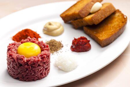 steak tartare: sirloin steak tartare