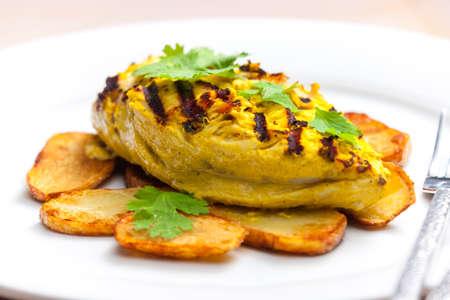chicken meat: chicken meat inyoghurt marinadee