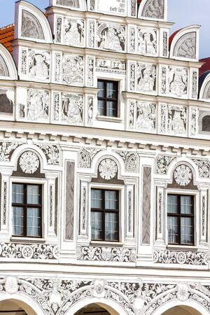 renaissance: renaissance house in Telc, Czech Republic Editorial