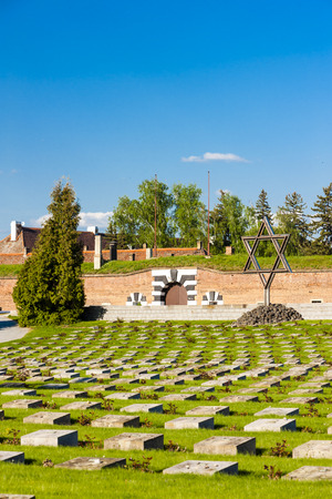 terezin: Small Fortress Theresienstadt with cemetery, Terezin, Czech Republic