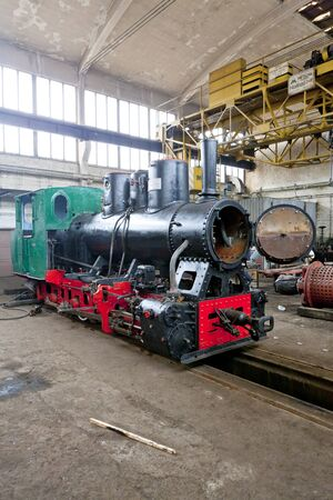 hercegovina: steam locomotive in depot, Banovici, Bosnia and Hercegovina