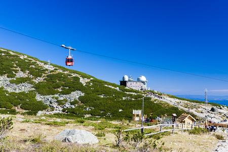 tatras tatry: Skalnate tarn station, cable car to Lomnicky Peak, Vysoke Tatry (High Tatras), Slovakia