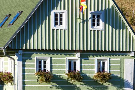 czech republic: green cottage, Czech Republic Stock Photo