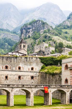 piedmont: fortress in Vinadio, Piedmont, Italy