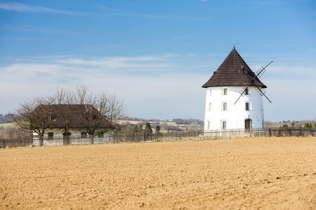 czech republic: windmill near Mseno, Czech Republic