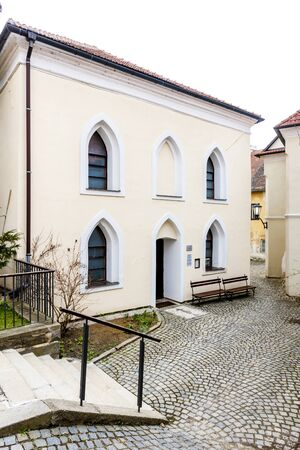 trebic: Front synagogue, Jewish Quarter, Trebic, Czech Republic Editorial