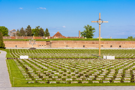 jailhouse: Small Fortress Theresienstadt with cemetery, Terezin, Czech Republic