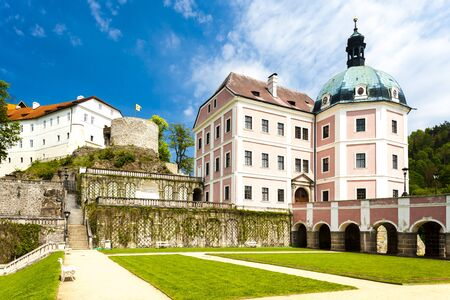 nad': castle and palace of Becov nad Teplou, Czech Republic Editorial