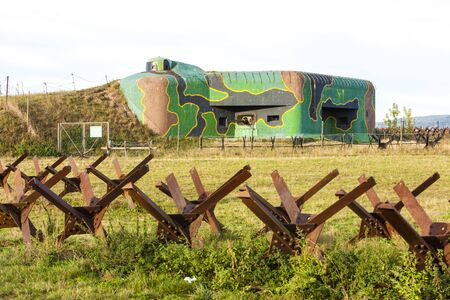 czech republic: bunker near Satov, Czech Republic