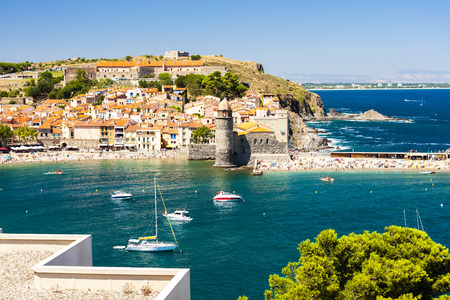 town and harbour of Collioure, Languedoc-Roussillon, France