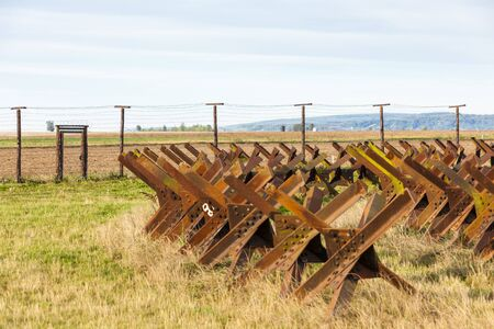 bearded wire: border near Satov, Czech Republic
