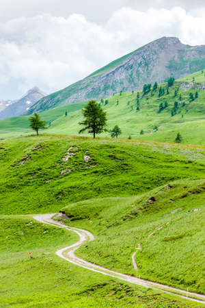 the silence of the world: landscape of Piedmont near French borders, Italy Stock Photo