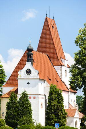 'saint nicholas': church of Saint Nicholas, Horni Stropnice, Czech Republic Stock Photo