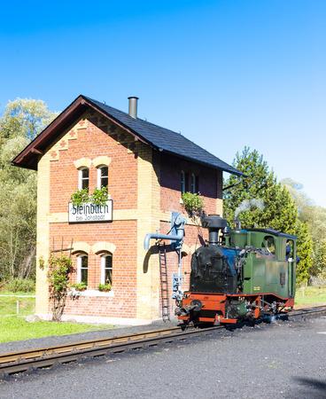 narrow gauge railroad: steam locomotive, Steinbach, Germany
