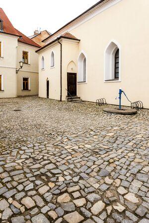 Front synagogue, Jewish Quarter, Trebic, Czech Republic Stock Photo