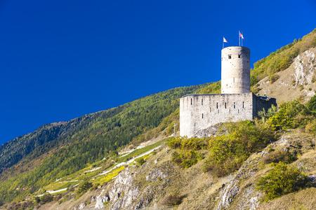 valais: Batiaz Castle, Martigny, canton Valais, Switzerland Editorial