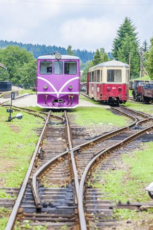 narrow gauge: narrow gauge railway, Nova Bystrice, Czech Republic