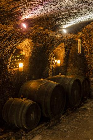 wijnkelder in Velka tRNA, Tokaj wijnstreek, Slowakije
