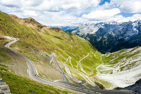 alto adige: road at Passo dello Stelvio, Alto Adige, Italy