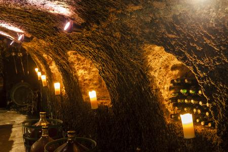 demijohn: wine cellar in Velka Trna, Tokaj wine region, Slovakia Editorial