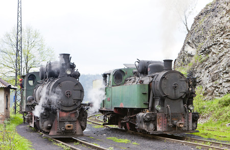 yugoslavia federal republic: steam locomotives, Oskova, Bosnia and Hercegovina Stock Photo
