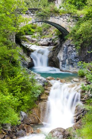 piedmont: waterfall near Sambuco, Piedmont, Italy