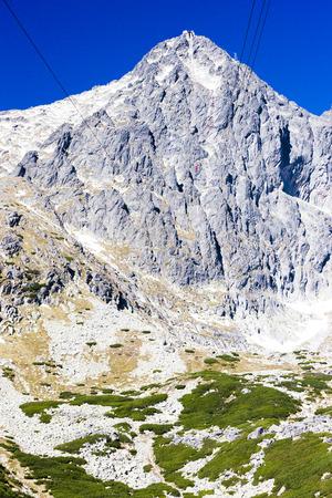 the silence of the world: Lomnicky Peak, Vysoke Tatry (High Tatras), Slovakia Stock Photo