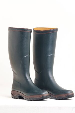 rubber boots: green rubber boots