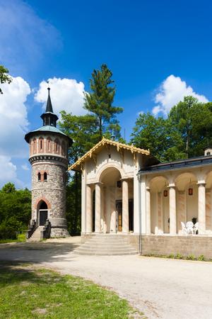 arthur: Palace Sychrov - Castle of Arthur, Czech Republic Editorial