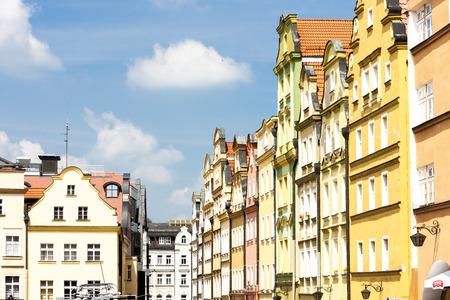 Plac Ratuszowy Square, Jelenia Gora, Silesia, Poland Stock fotó