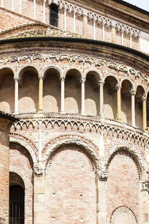pilaster: detail of Parma Cathedral, Emilia-Romagna, Italy