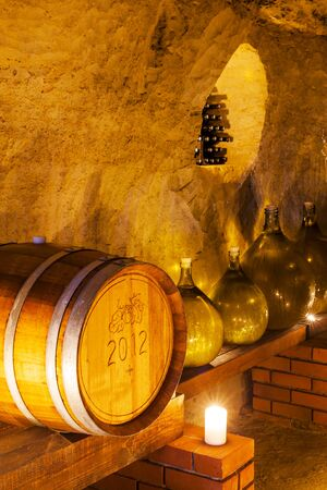demijohn: wine cellar, Czech Republic