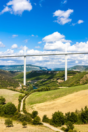 millau: Millau Viaduct, Aveyron, Midi Pyrenees, France Stock Photo