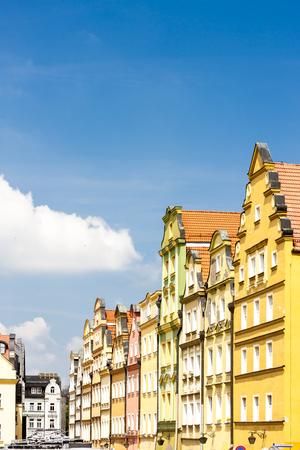 gora: Plac Ratuszowy Square, Jelenia Gora, Silesia, Poland Stock Photo