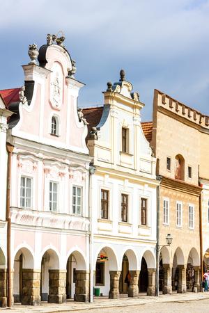renaissance: renaissance houses in Telc, Czech Republic