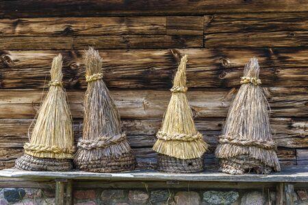 ethnographic: beehives, Kaszubski ethnographic park in Wdzydzki Park Krajobrazowy, Pomerania, Poland