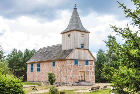 wooden church, Kaszubski ethnographic park in Wdzydzki Park Krajobrazowy, Pomerania, Poland