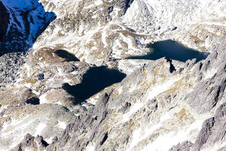 the silence of the world: view from Lomnicky Peak to tarn, Vysoke Tatry (High Tatras), Slovakia