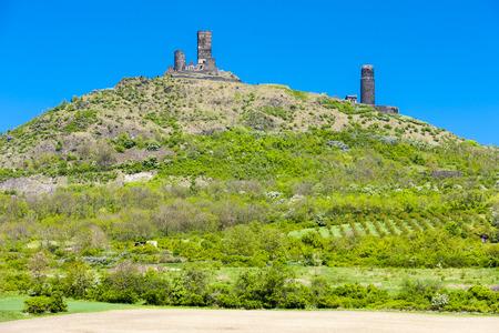 ceske: ruins of Hazmburk Castle, Ceske stredohori, Czech Republic Stock Photo