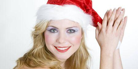 christmas motive: womans portrait - Santa Claus
