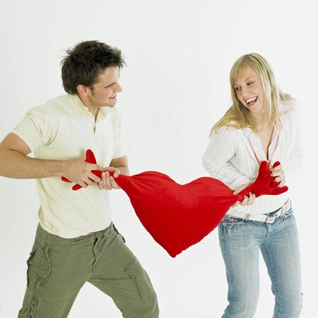 saint valentine   s day: couple with heart